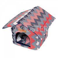 Домик для кошек и собак Xody Будка №1, хлопок, морячок черный, красный, белый, 32x30x30см