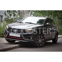 Накладка на передний бампер (в цвет автомобиля) АртФорм (АБС) Лада Веста | LADA Vesta Седан с 2020